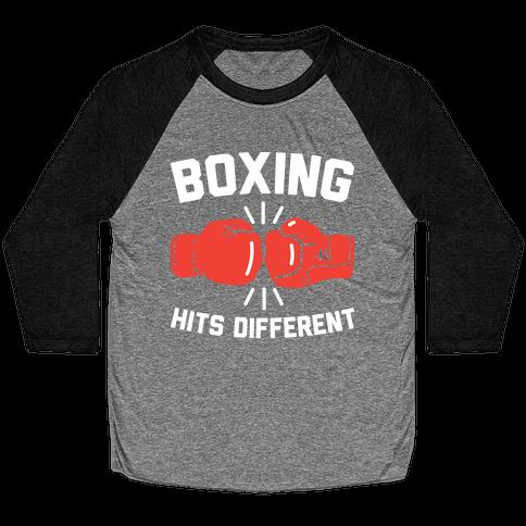Boxing Hits Different Baseball Tee