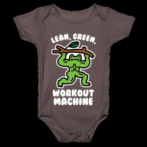 Lean, Green, Workout Machine Baby One-Piece