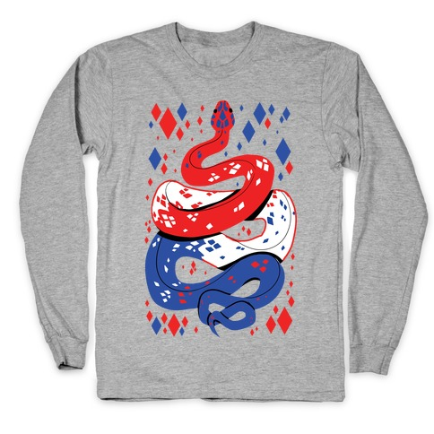 USA Red White And Blue Snake Long Sleeve T-Shirt