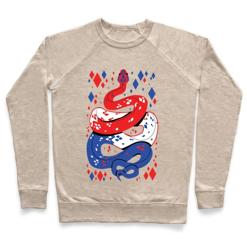 USA Red White And Blue Snake Pullover