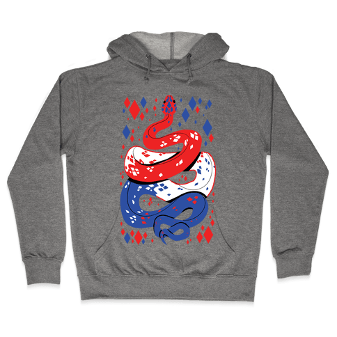 USA Red White And Blue Snake Hooded Sweatshirt