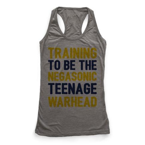 Training To Be The Negasonic Teenage Warhead  Racerback Tank Top