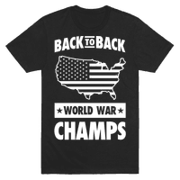 Back to Back World War Champs (light print) Tee
