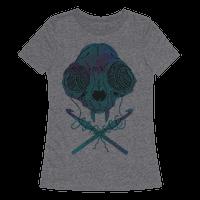 Cat Skull & Crochet Hooks Tee