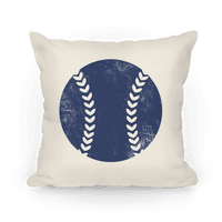 Blue Baseball Pillow