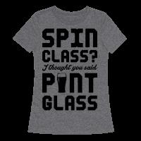 Spin Class Pint Glass Tee
