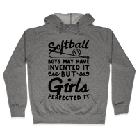Softball Was Perfected By Girls Hoodie