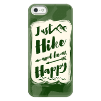 Just Hike and Be Happy Phonecase