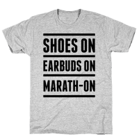 Shoes On Earbuds On Marath-On