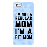 I'm Not a Regular Mom I'm a Fit Mom Blue Phonecase