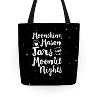 Moonshine, Mason Jars and Moonlit Nights Tote
