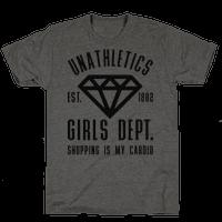 Unathletics Girls Department Shopping Is My Cardio