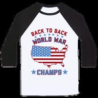 Back to Back World War Champs Baseball