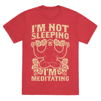 I'm Not Sleeping I'm Meditating Tee