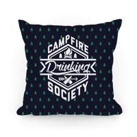 Campfire Drinking Society Pillow