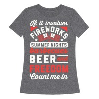 If It Involves Fireworks Count Me In Racerback Tank Tops Merica Made