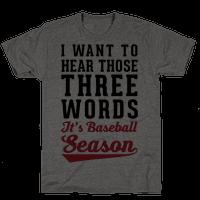 I Want To Hear Those Three Words  It's Baseball Season
