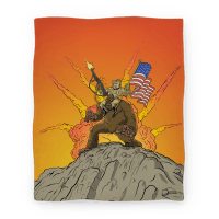 Teddy and Bigfoot: Rough Riders For Life (Blanket)