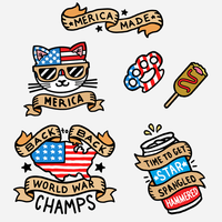 Merica Made Temporary Tattoos