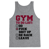 Gym To Do List Tank