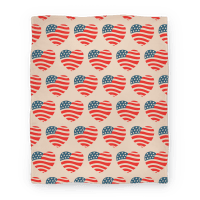 American Heart Pattern (Blanket)