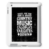 Roses Are Red, Mud Is Brown, Country Music Up, Tailgates Down Tabletcase