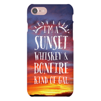 I'm a Sunset, Whiskey, and Bonfire Kind of Gal Phonecase
