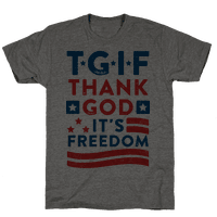 TGIF - Thank God It's Freedom (Patriotic Tank)