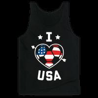 I Love USA (Soccer) Tank