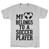 My Heart Belongs to A Soccer Player (Baseball Tee)