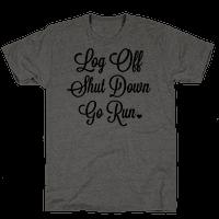 Log Off Shut Down Go Run