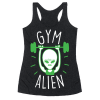 Gym Alien Lifting Racerback