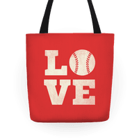 Love Baseball Tote
