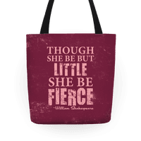 Little But Fierce (Rose) Tote