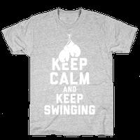 Keep Calm and Keep Swinging (White Ink)