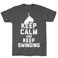 Keep Calm and Keep Swinging (White Ink)