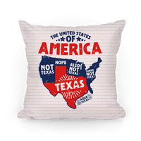United States of Texas Pillow