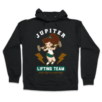 Jupiter Lifting Team Thunder Thighs are Wonder Thighs Hoodie