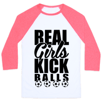 Real Girls Kick Balls Baseball