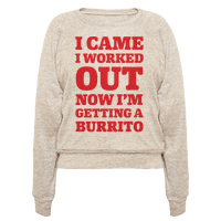 I Came I Worked Out Now I'm Getting A Burrito Pullover