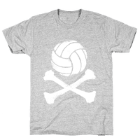 Volleyball and Crossbones (White Vintage)