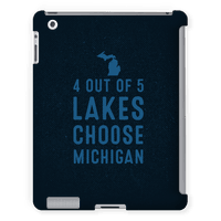 4 Out Of 5 Lakes Choose Michigan Tabletcase