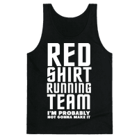 Red Shirt Running Team Tank