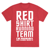 Red Shirt Running Team Tee