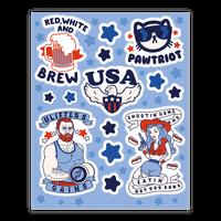 Patriotic Party Sticker