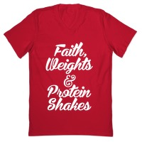Faith Weights Protein Shakes T Shirts Activate Apparel