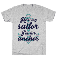I'm His Anchor (Navy Raglan)