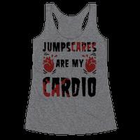 Jumpscares Are My Cardio Racerback