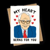My Heart Berns For Sanders Greetingcard