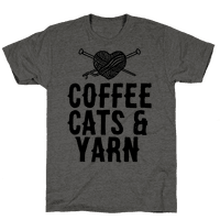 Coffee, Cats and Yarn Tee